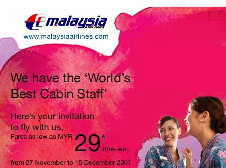 Malaysia Airlines Year End Offer