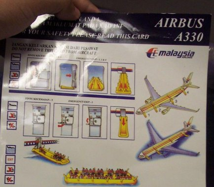 Safety Card Airbus A330
