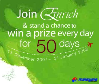 Malaysia Airlines Enrich Free Giveaway